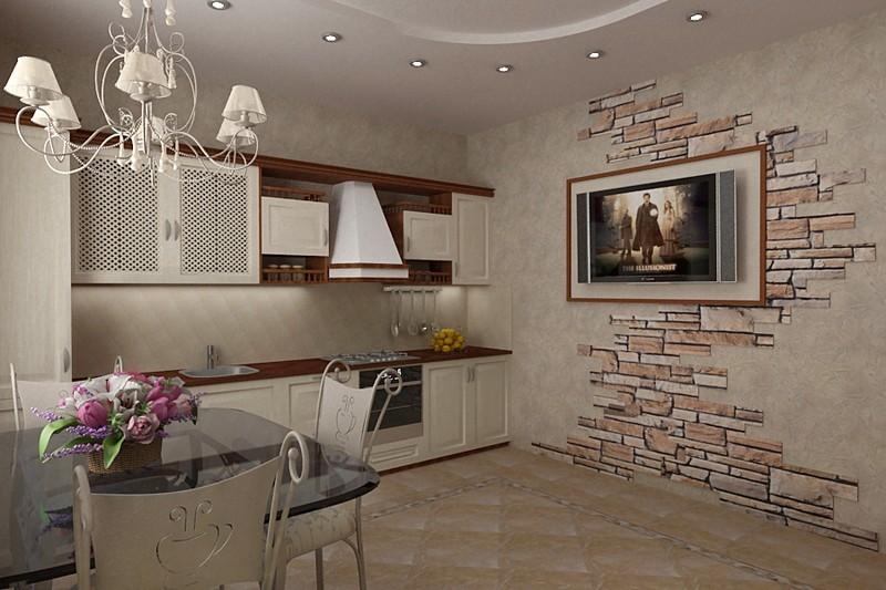 Фото дизайн кухни из проекта Интерьер трехкомнатной