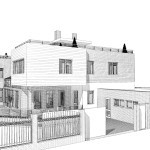 черно-белое изображение будущего здания от компании город мастеров